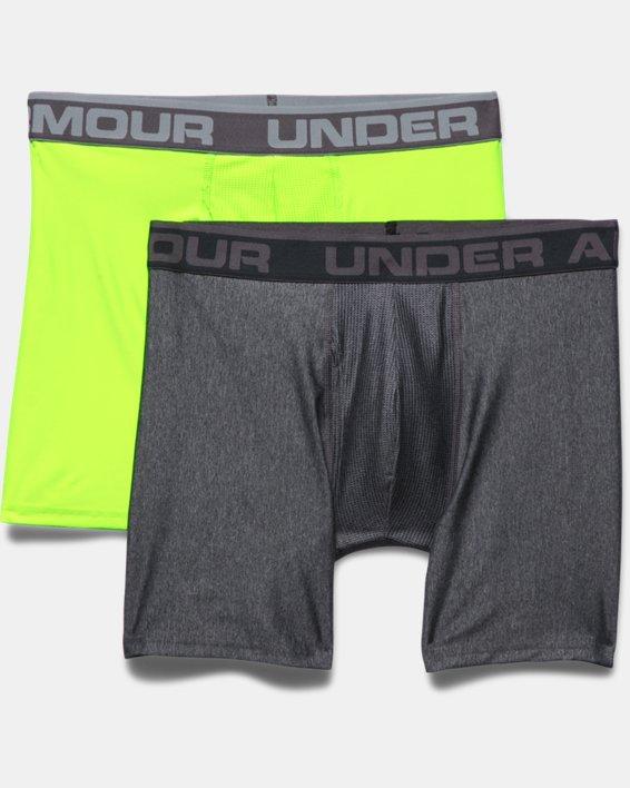 """Men's UA Original Series 6"""" Boxerjock® - 2-Pack, Gray, pdpMainDesktop image number 3"""