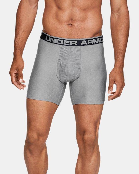 """Boxers UA Original Series 6"""" Boxerjock® pour homme, lot de 2, Gray, pdpMainDesktop image number 0"""