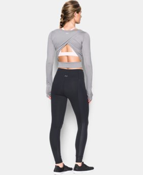 Women's UA Wishbone Long Sleeve Crop LIMITED TIME: FREE SHIPPING 2 Colors $69.99