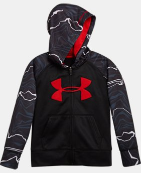 Boys' Pre-School UA Armour® Fleece Map Jagger Hoodie