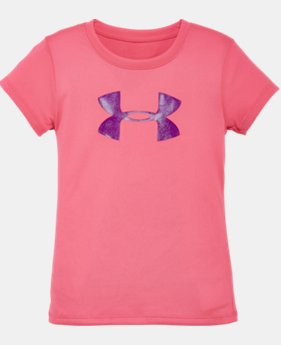 Girls' Pre-School UA Glitter Big Logo T-Shirt