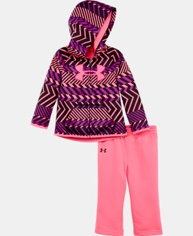 Girls' Newborn UA Armour® Fleece Zig Zag Hoodie Set