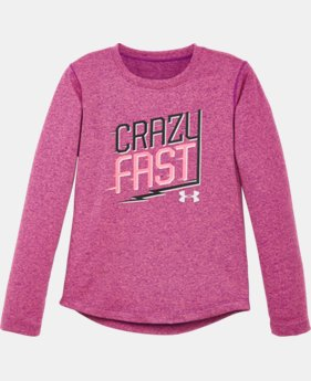Girls' Pre-School UA Crazy Fast Long Sleeve LIMITED TIME: FREE SHIPPING  $24.99