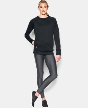 New Arrival  Women's UA Armour® Fleece Textured Long Sleeve Crew  1 Color $69.99