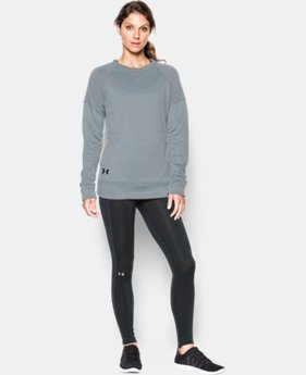 Women's UA Armour® Fleece Textured Long Sleeve Crew  1 Color $59.99