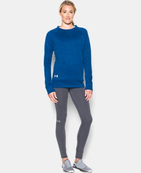 Women's UA Armour® Fleece Textured Long Sleeve Crew