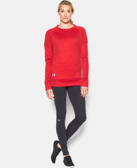 Best Seller Women's UA Armour® Fleece Textured Long Sleeve Crew  4 Colors $59.99
