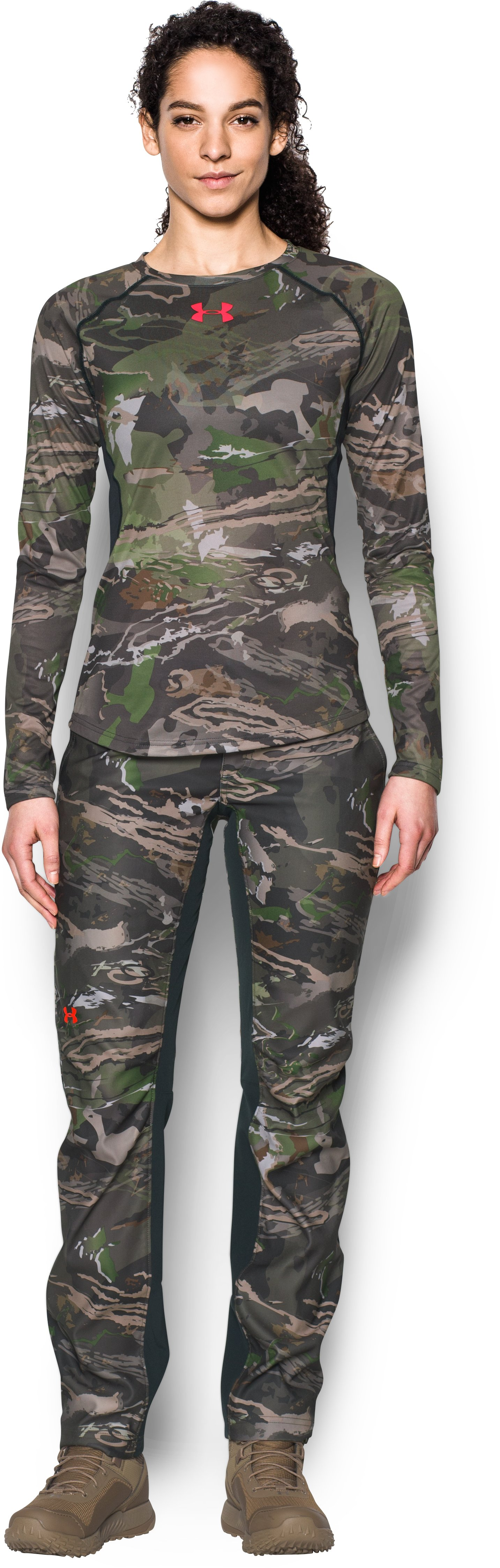 Women's Under Armour® Scent Control Tech Long Sleeve, RIDGE REAPER® FOREST, Front