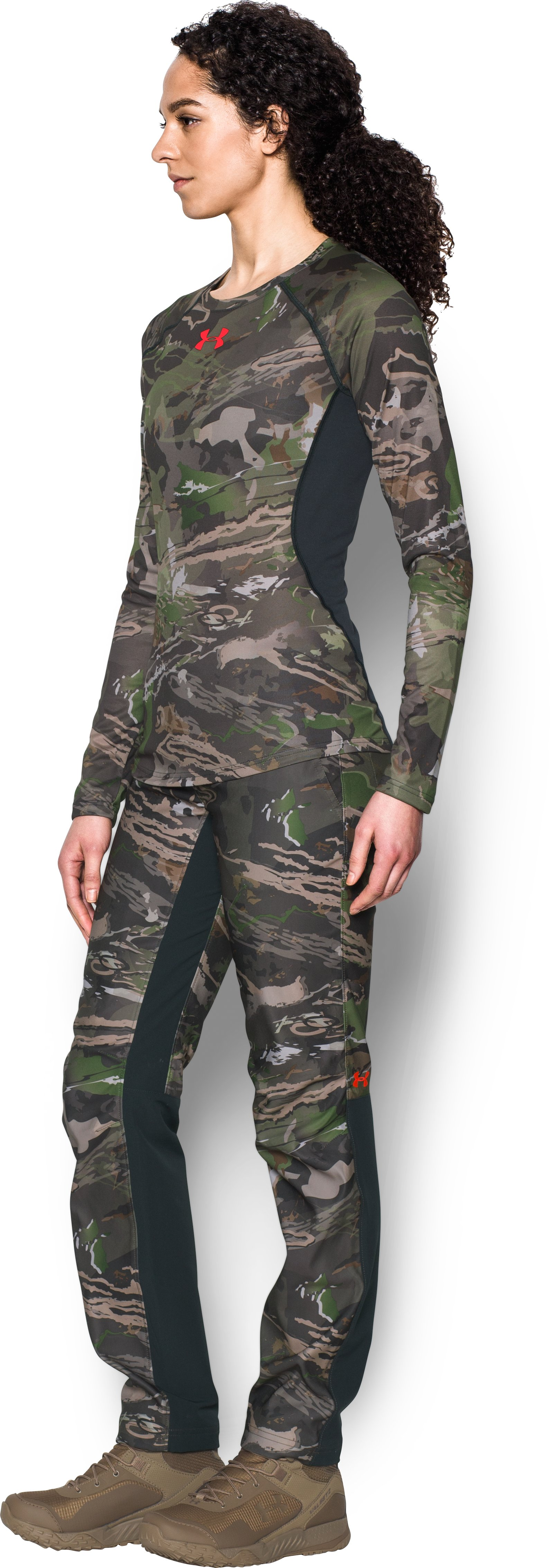 Women's Under Armour® Scent Control Tech Long Sleeve, RIDGE REAPER® FOREST, undefined
