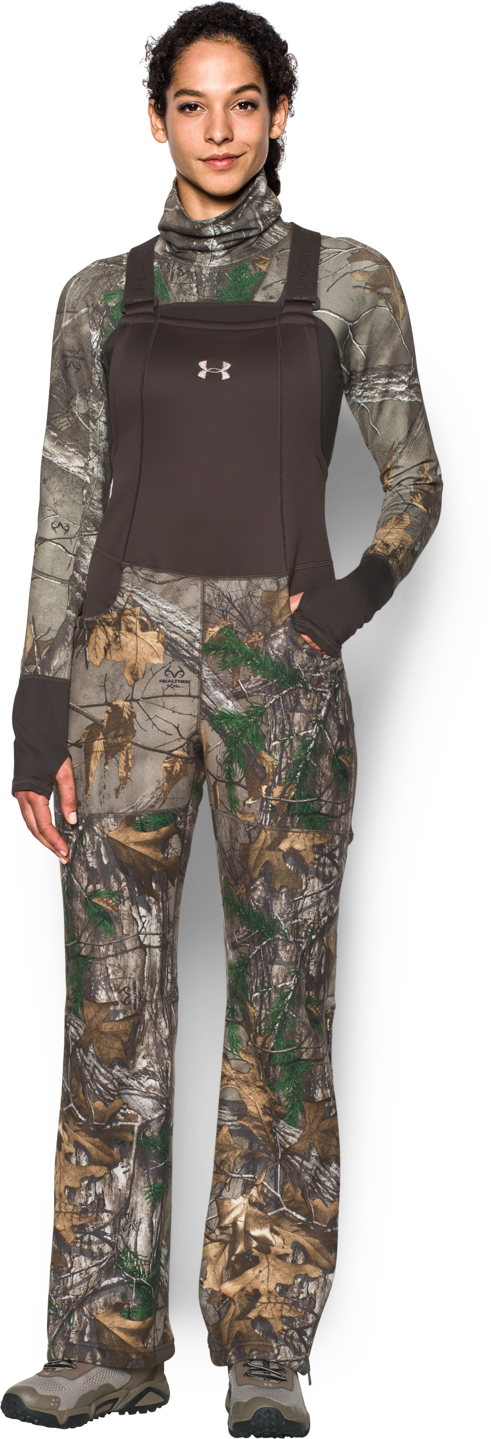 adult bibs Women's UA Mid Season Bib I also purchased the Women's HeatGearR EVO Camo Long Sleeve shirt and it makes a perfect set....Cute Bibs...Best pair hunting pants I've gotten yet.