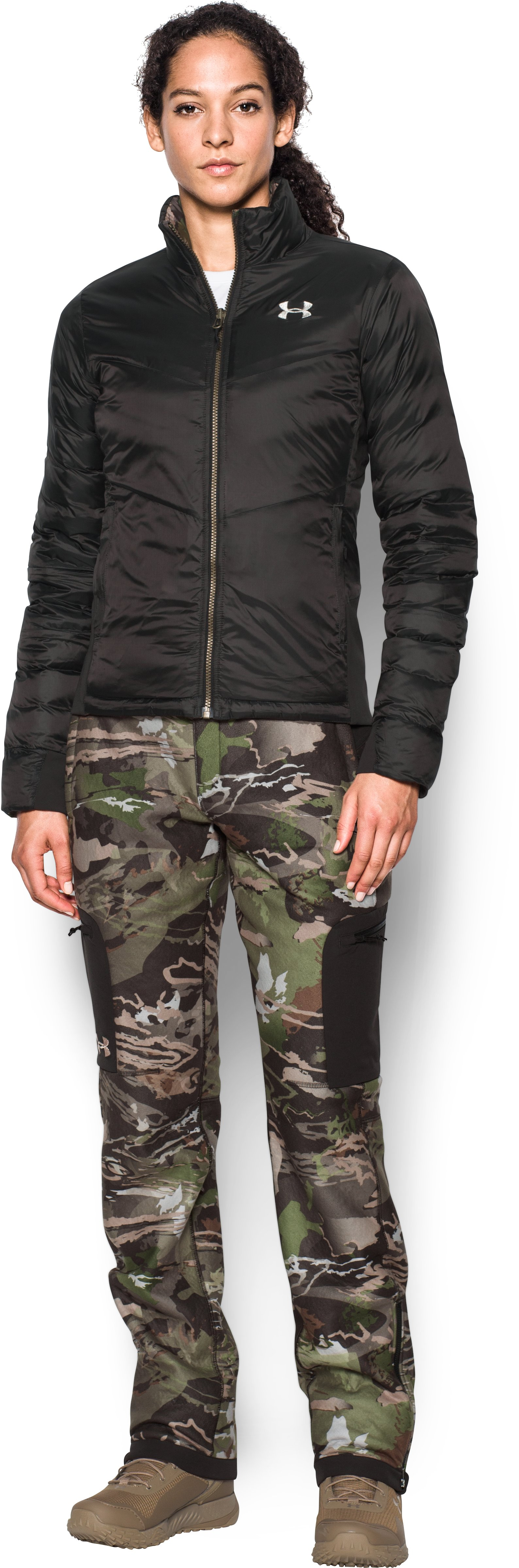 Women's UA Extreme Reversible Jacket, RIDGE REAPER® FOREST, Front