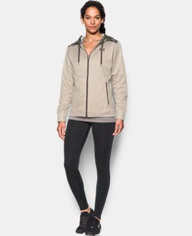 Women's UA Logo Caliber Full Zip Hoodie  1 Color $71.99