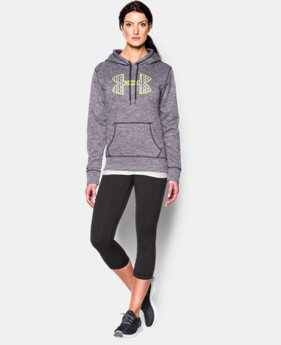 Women's UA Armour® Fleece Big Logo Twist Hoodie  1 Color $59.99