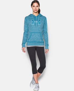 Women's UA Armour® Fleece Big Logo Twist Hoodie  1 Color $44.99