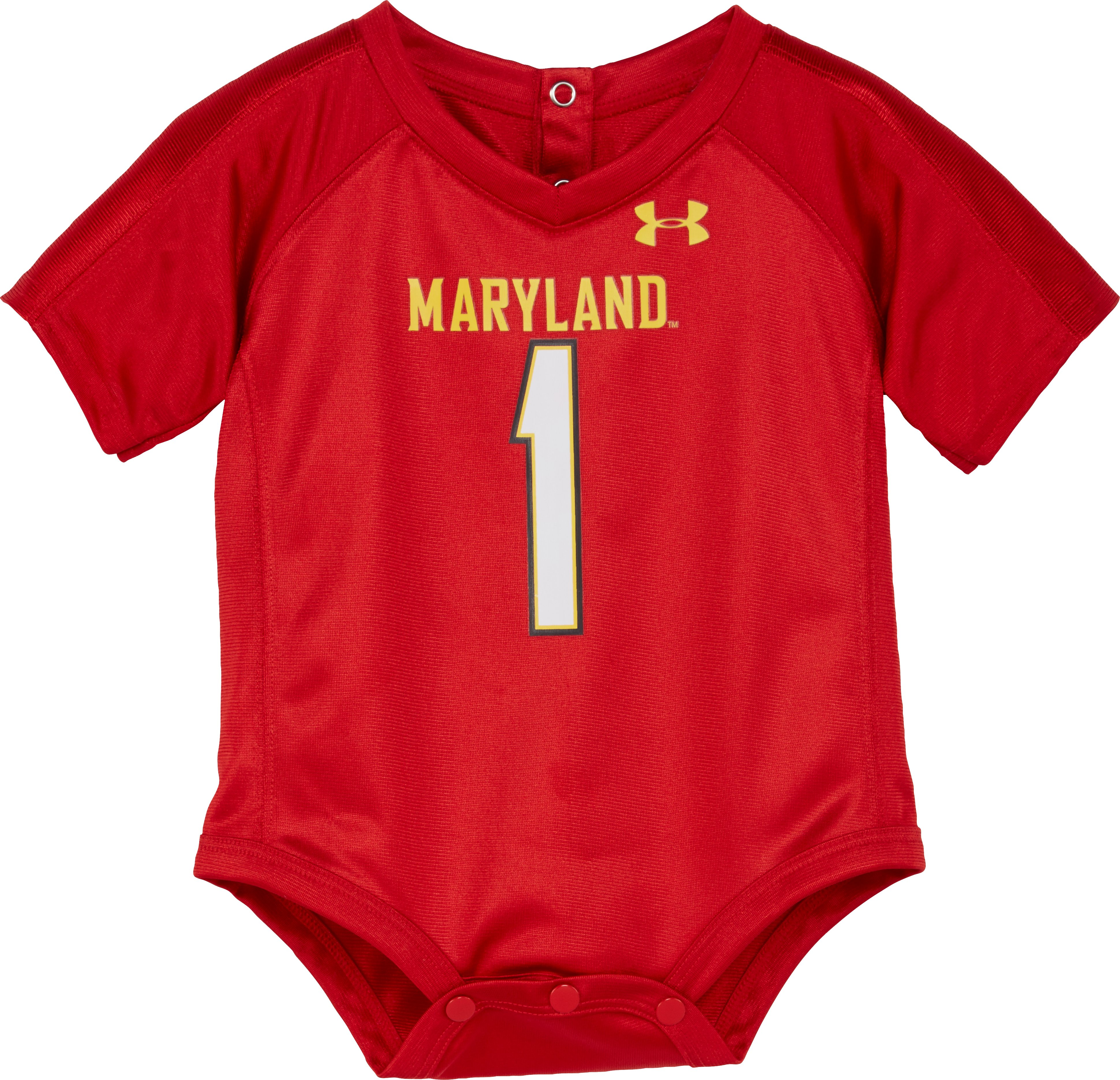 Boys' Newborn Maryland Replica Jersey Bodysuit, Red, zoomed image
