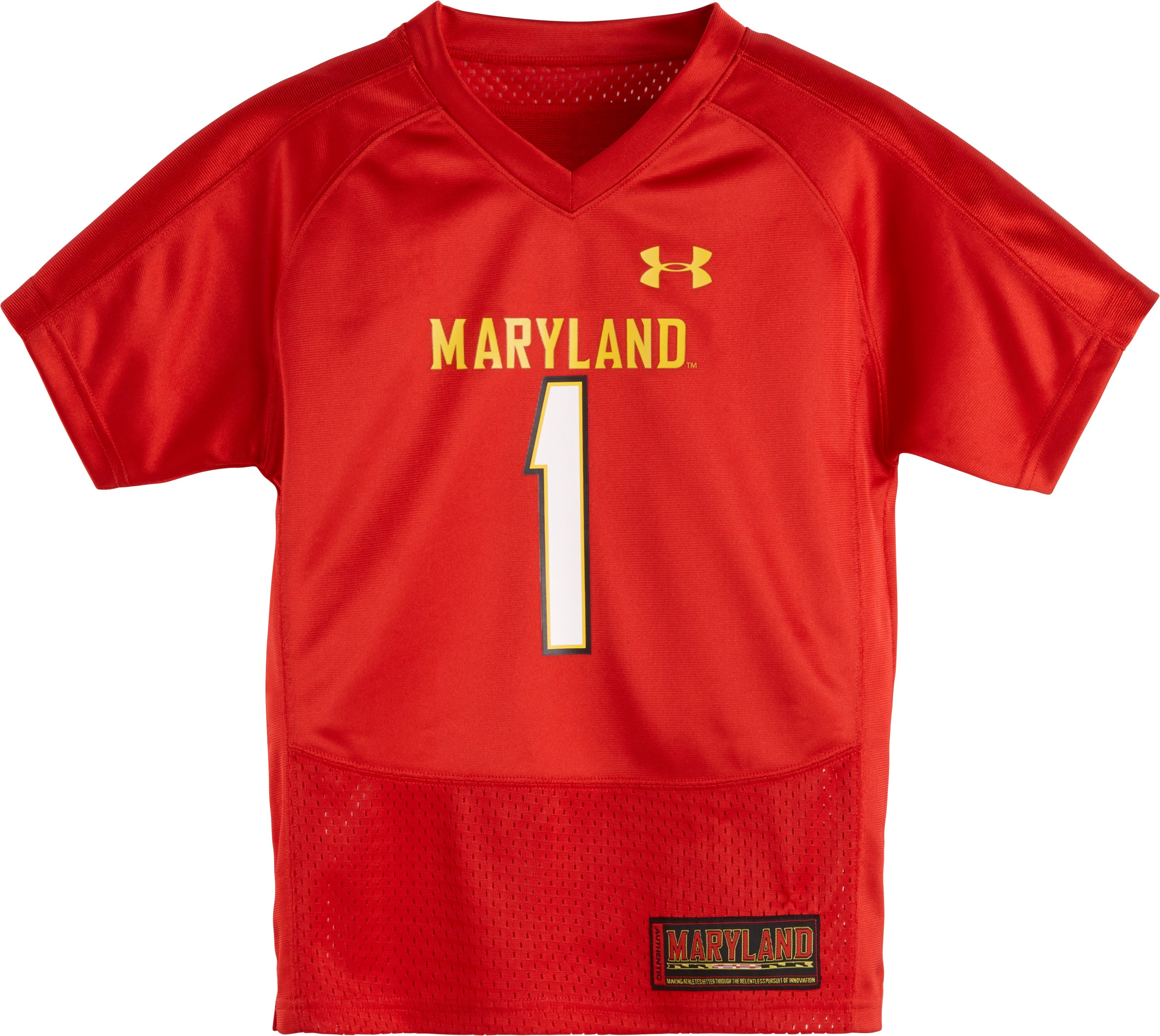 Boys' Pre-School Maryland Replica Jersey, Red, zoomed image
