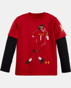 Boys' Pre-School Maryland Football Player Slider   $24.99