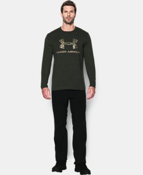 New Arrival  Men's UA Camo Logo Long Sleeve T-Shirt  1 Color $34.99