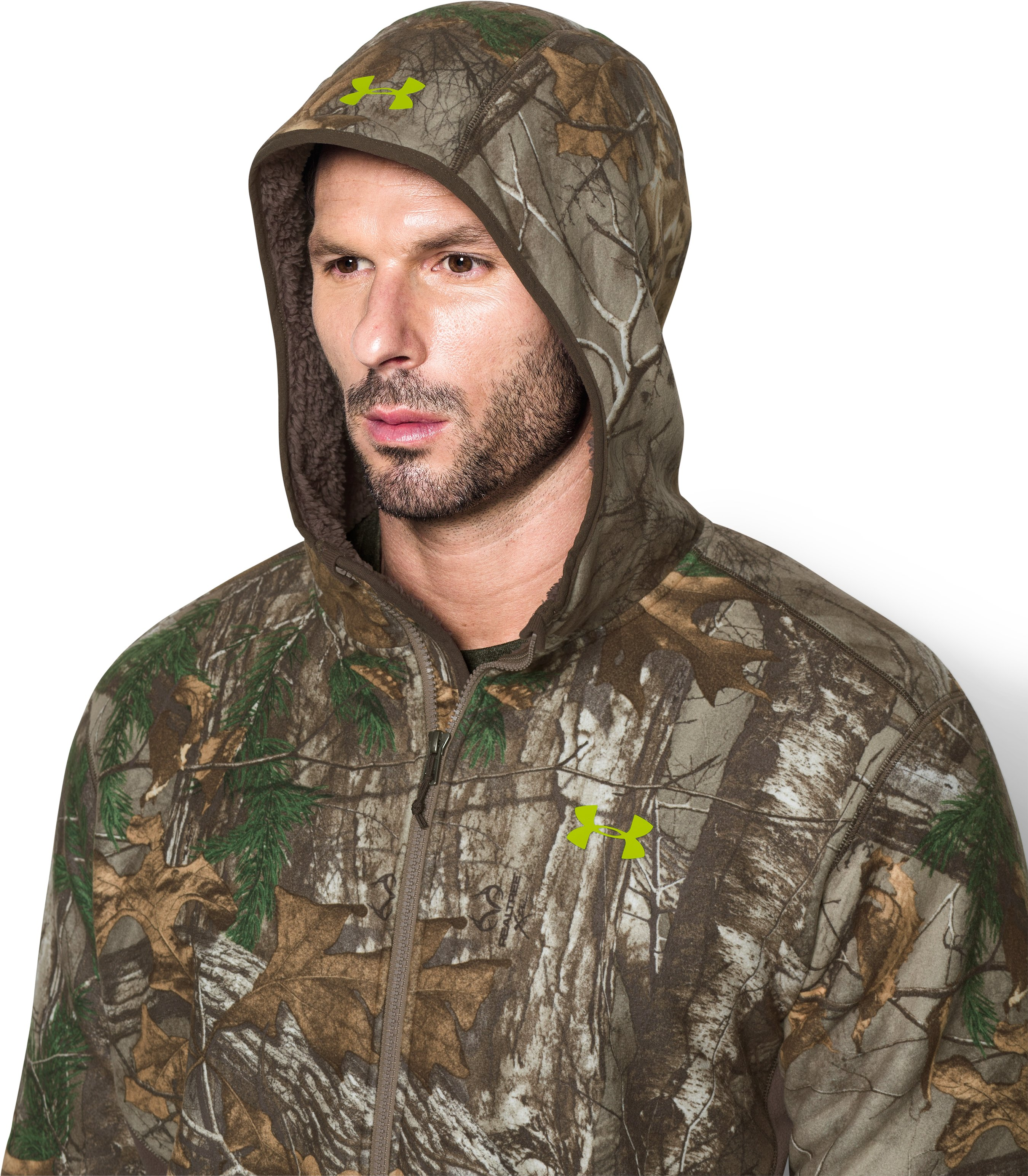 Men's UA Stealth Fleece Hoodie, REALTREE AP-XTRA