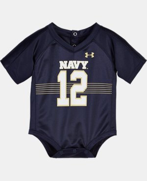 Boys' Newborn Navy Replica Jersey Bodysuit  1 Color $25.99