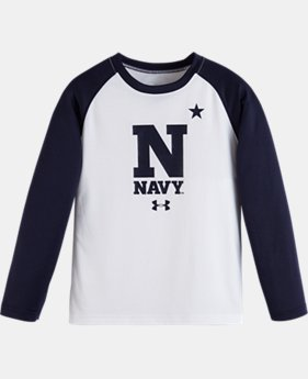 Boys' Pre-School Navy UA Tech™ Long Sleeve T-Shirt
