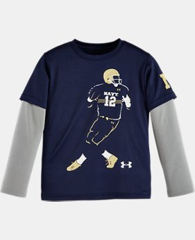 Boys' Pre-School Navy Football Player Slider