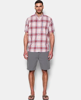 Men's UA Tide Swing Plaid Short Sleeve Shirt  1 Color $39.74 to $52.99