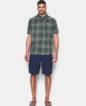 Men's UA Tide Swing Plaid Short Sleeve Shirt  1 Color $69.99