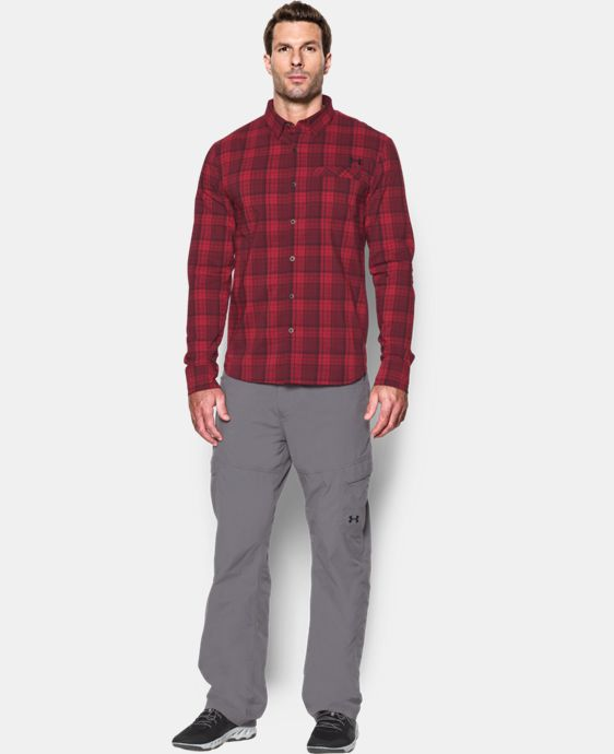 Men's UA Victor Plaid Long Sleeve   1 Color $74.99