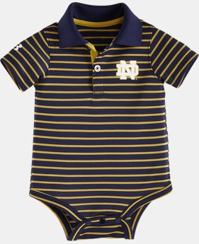 Boys' Newborn Notre Dame Yarn Dye Polo Bodysuit