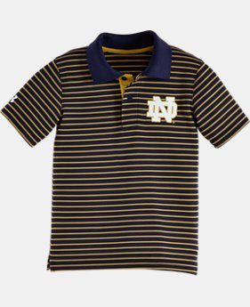 Boys' Pre-School Notre Dame Yarn Dye Polo Bodysuit