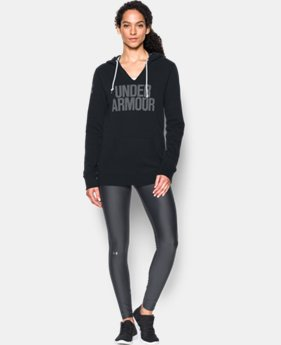 New Arrival  Women's UA Favorite Fleece Word Mark Popover  1 Color $64.99