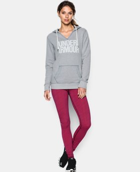 Women's UA Favorite Fleece Word Mark Popover LIMITED TIME OFFER + FREE U.S. SHIPPING 1 Color $41.24