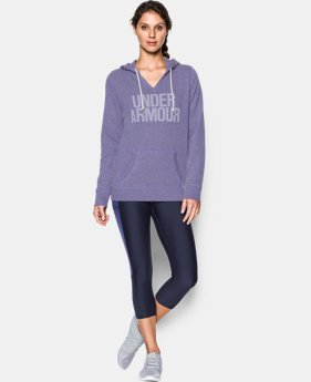 Women's UA Favorite Fleece Word Mark Popover LIMITED TIME OFFER + FREE U.S. SHIPPING 4 Colors $41.24