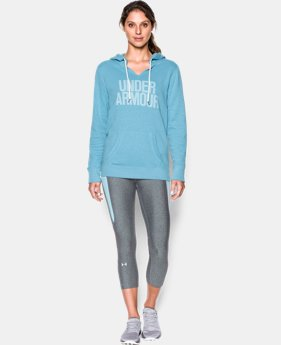 New Arrival  Women's UA Favorite Fleece Word Mark Popover  5 Colors $64.99