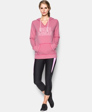 New Arrival  Women's UA Favorite Fleece Word Mark Popover  3 Colors $64.99