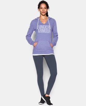 Women's UA Favorite Fleece Word Mark Popover LIMITED TIME OFFER + FREE U.S. SHIPPING 3 Colors $41.24