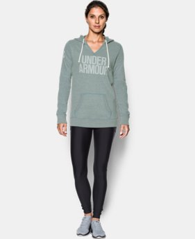 Women's UA Favorite Fleece Word Mark Popover LIMITED TIME OFFER + FREE U.S. SHIPPING 2 Colors $41.24