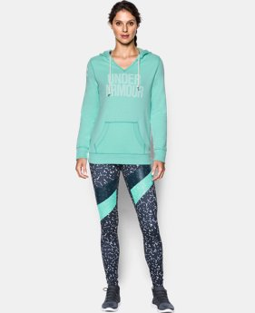 New Arrival  Women's UA Favorite Fleece Word Mark Popover  4 Colors $64.99