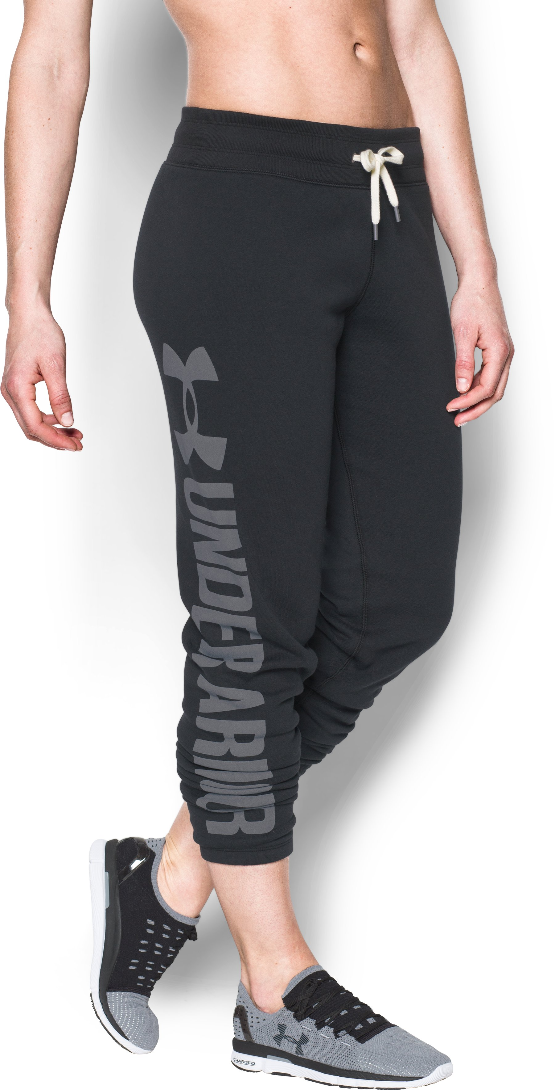 Women's UA Favorite Fleece Pants, Black