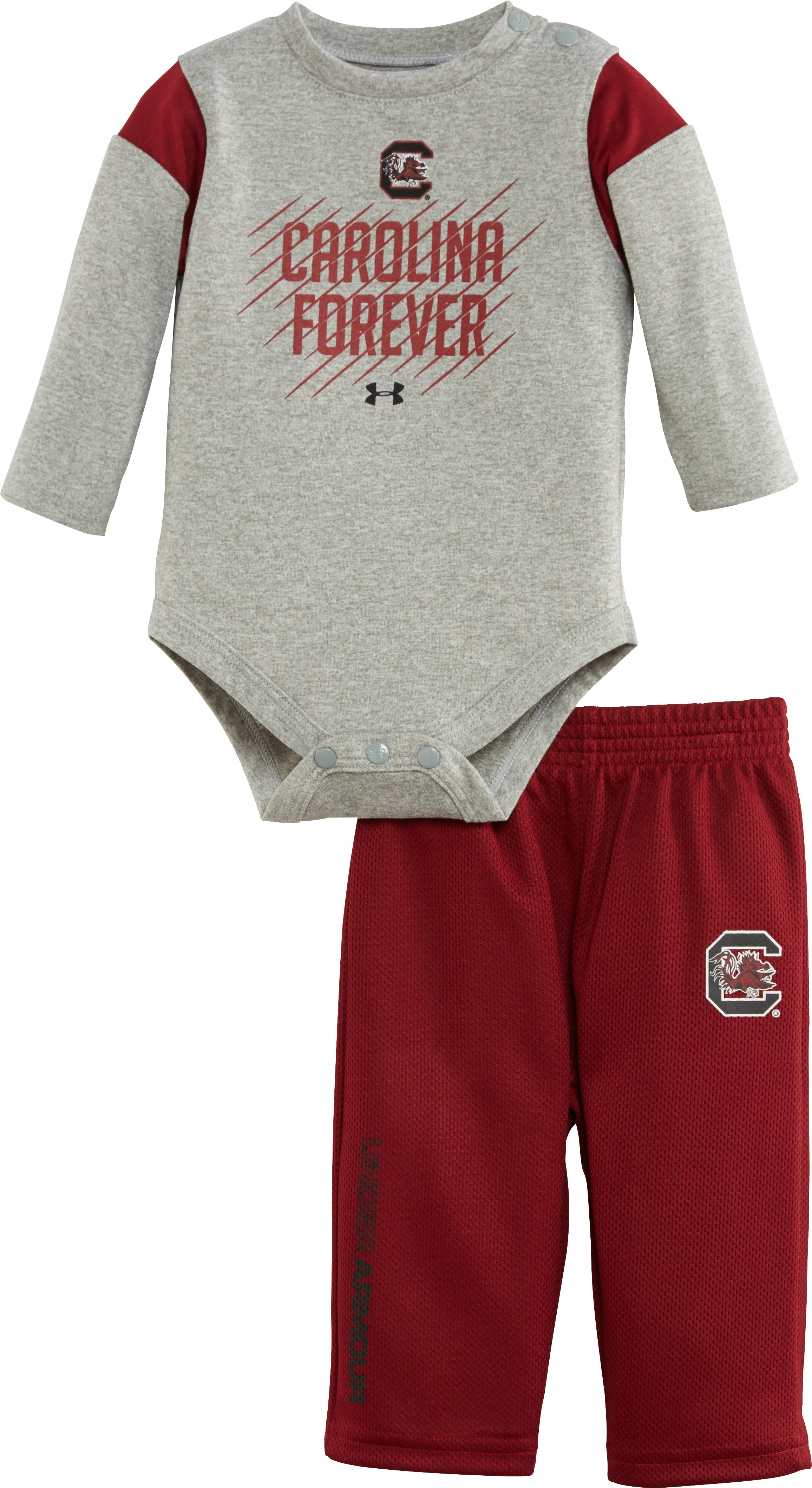 Boys' Newborn South Carolina Forever Bodysuit Pant Set, True Gray Heather, Laydown