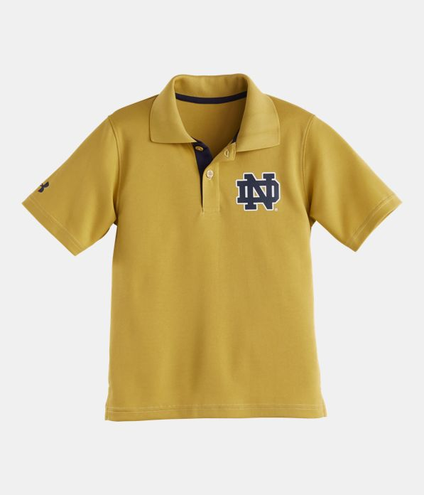 Boys 39 toddler notre dame polo under armour us for Notre dame golf shirts