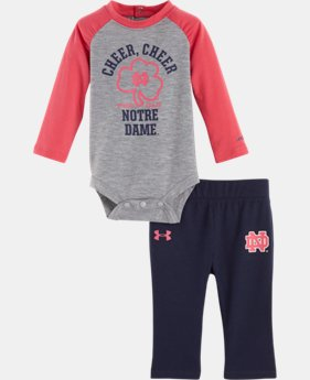 Girls' Newborn Notre Dame Cheer Cheer Bodysuit Pant Set   $29.99