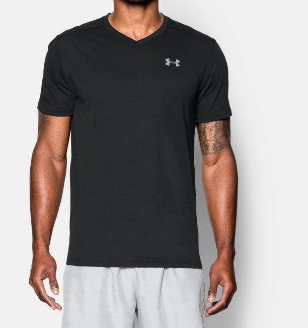 Men 39 s ua streaker v neck under armour us for Large v neck t shirts