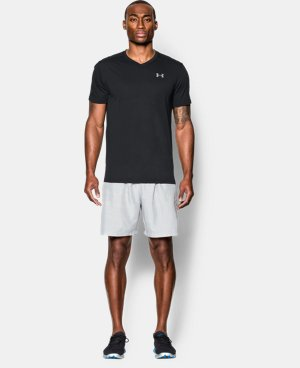 New Arrival  Men's UA Streaker Run V-Neck T-Shirt   $34.99
