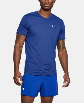 Men's UA Threadborne Streaker V-Neck FREE U.S. SHIPPING 2  Colors Available $29.99