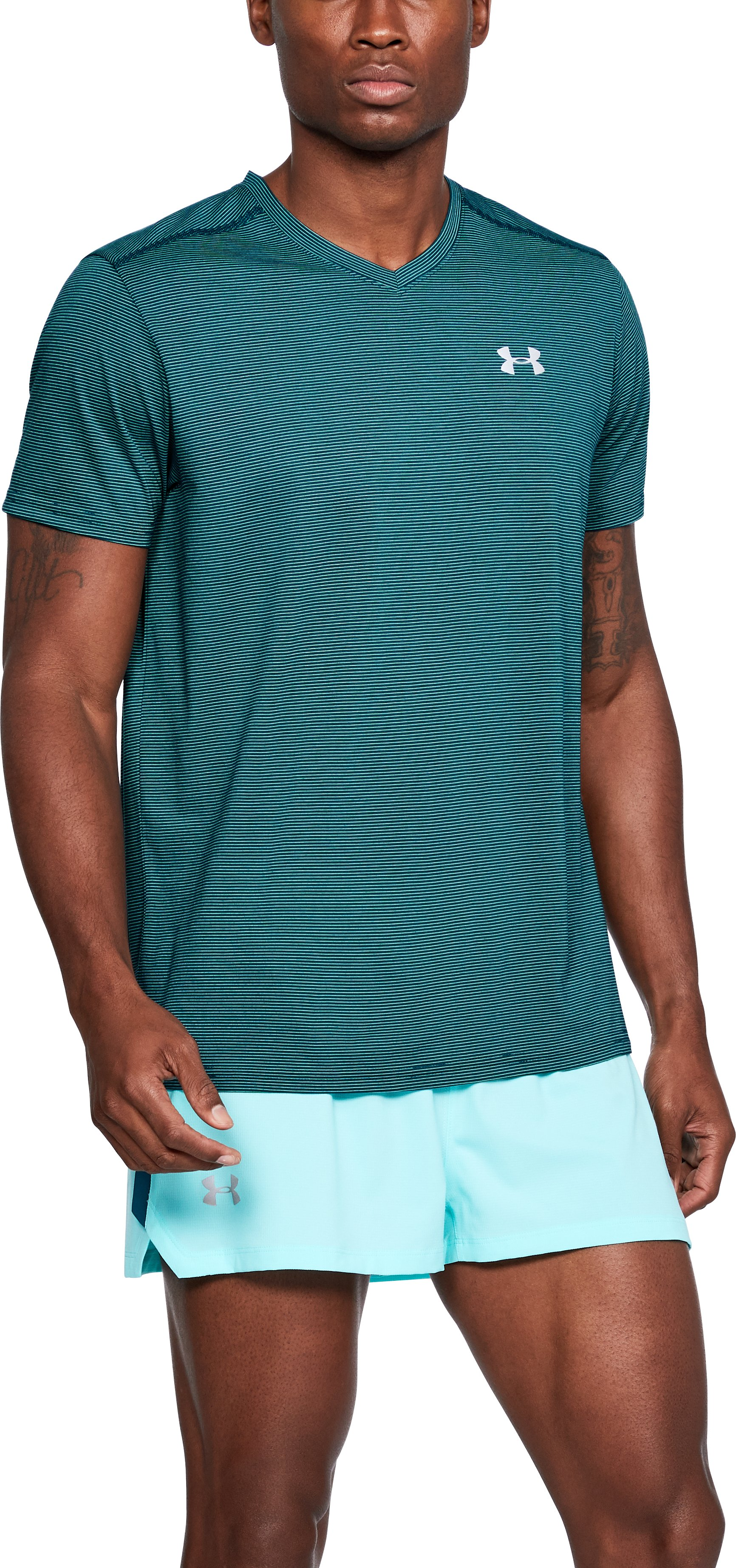 Men's UA Streaker V-Neck, TOURMALINE TEAL