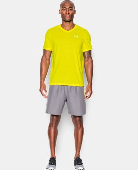 Men's UA Streaker Run V-Neck T-Shirt  1 Color $22.99 to $29.99