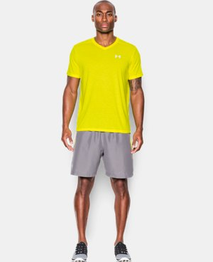 Men's UA Streaker Run V-Neck T-Shirt LIMITED TIME: FREE U.S. SHIPPING 1 Color $17.24 to $22.99