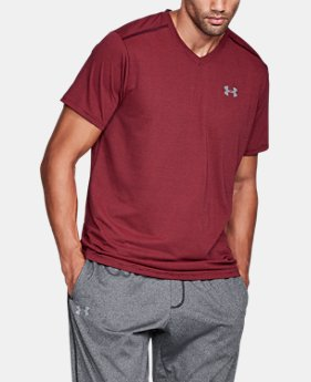 Best Seller Men's UA Threadborne Streaker V-Neck  1 Color $29.99